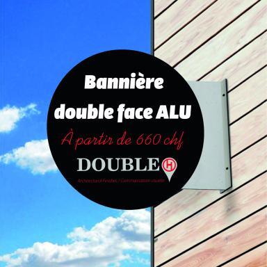 Bannière double face Rond ALU