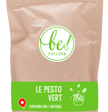 Popcorn Suisse au Pesto vert